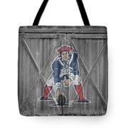 New England Patriots Tote Bag by Joe Hamilton