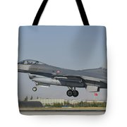 Turkish Air Force F-16 During Exercise Tote Bag
