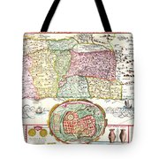 1632 Tirinus Map Of The Holy Land Israel W Numerous Insetsgeographicus Holyland Tirinus 1632 Tote Bag