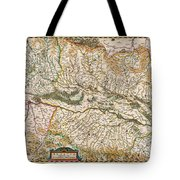 1644 Jansson Map Of Alsace Basel And Strasbourg Geographicus Alsatiasuperior Jansson 1644 Tote Bag