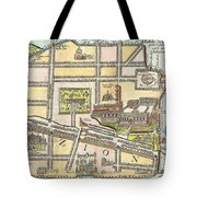 1650 Fuller Map Of Jerusalem Israel Palestine  Holy Land Geographicus Jerusalem Fuller 1650 Tote Bag