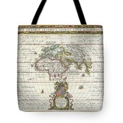 1650 Jansson Map Of The Ancient World Tote Bag