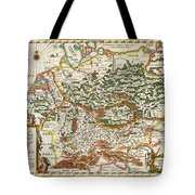 1657 Jansson Map Of Germany Germania Geographicus Germaniae Jansson 1657 Tote Bag