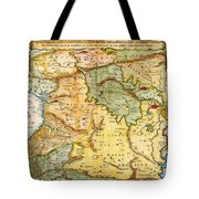 1657 Visscher Map Of The Holy Land Or The Earthly Paradise Geographicus Gelengentheyt Visscher 1657 Tote Bag
