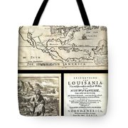 1688 Hennepin First Book And Map Of North America First Printed Map To Name Louisiana Geographicus N Tote Bag