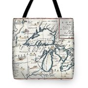1696 Coronelli Map Of The Great Lakes Most Accurate Map Of The Great Lakes In The 17th Century Geogr Tote Bag