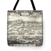 1697 Pufendorf View Of Krakow Cracow Poland Tote Bag