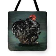 17. Black Frizzle Cochin Bantam Tote Bag