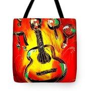 Guitar Tote Bag by Mark Kazav