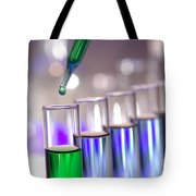 Laboratory Test Tubes In Science Research Lab Tote Bag