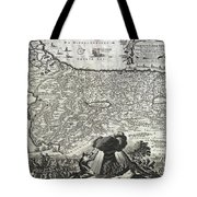 1702 Visscher Stoopendaal Map Of Israel Tote Bag