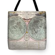 1707 Homann And Doppelmayr Map Of The Moon  Tote Bag