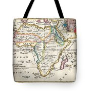 1710 De La Feuille Map Of Africa Tote Bag