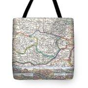 1710 De La Feuille Map Of Transylvania  Moldova Tote Bag