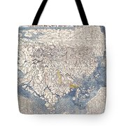 1710 First Japanese Buddhist Map Of The World Showing Europe America And Africa Tote Bag by Paul Fearn