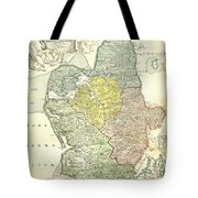 1710 Homann Map Of Denmark Tote Bag