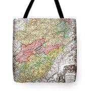 1716 Homann Map Of Burgundy France Geographicus Burgundiae Homan 1716 Tote Bag