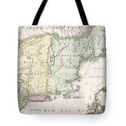 1716 Homann Map Of New England Tote Bag