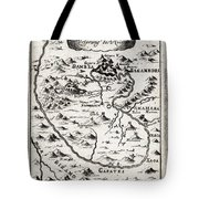 1719 Mallet Map Of The Source Of The Nile Ethiopia Abyssinia Geographicus Nil Mallet 1719 Tote Bag