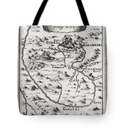 1719 Mallet Map Of The Source Of The Nile Ethiopia Tote Bag by Paul Fearn