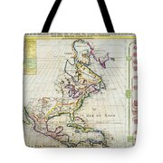 1720 Chatelain Map Of North America Geographicus Amerique Chatelain 1720 Tote Bag