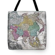 1730 C Homann Map Of Asia Geographicus Asiae Homann 1730 Tote Bag