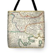 1738 Ratelband Map Of The Balkans Tote Bag