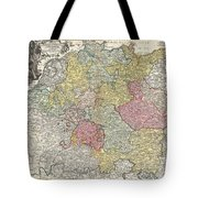 1740 Homann Map Of The Holy Roman Empire Tote Bag