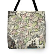 1740 Seutter Map Of India Pakistan Tibet And Afghanistan Tote Bag