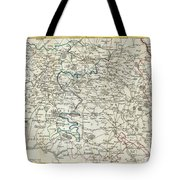 1740 Zatta Map Of Central France And The Vicinity Of Paris  Tote Bag