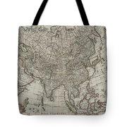 1745 Asia Map Tote Bag