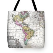 1746 Homann Heirs Map Of South And North America Tote Bag