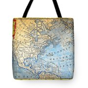 1747 Bowen Map Of North America Geographicus Northamerica Bowen 1747 Tote Bag