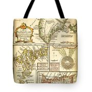 1747 Bowen Map Of The North Atlantic Islands Greenland Iceland Faroe Islands Maelstrom Geographicus  Tote Bag