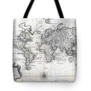 1748 Antique World Map Versuch Von Einer Kurzgefassten Karte  Tote Bag