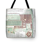 1750 Bellin Map Of Cape Town South Africa Tote Bag