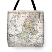 1750 Homann Heirs Map Of Israel  Palestine Holy Land  Tote Bag