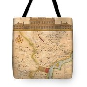 1752  Scull  Heap Map Of Philadelphia And Environs Tote Bag