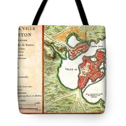 1756 Bellin Map Of Boston Massachusetts Geographicus Boston2 Bellin 1756 Tote Bag