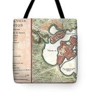 1756 Bellin Map Of Boston Massachusetts Tote Bag