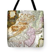 1756 Lotter Map Of Pennsylvania New Jersey New York Geographicus Pensylvanianovajersey Lotter 1756 Tote Bag