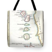 1760 Bellin Map Of The Moluques Tote Bag