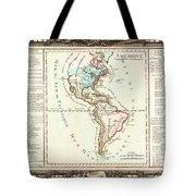 1760 Desnos And De La Tour Map Of North America And South America Geographicus Amerique Desnos 1760 Tote Bag