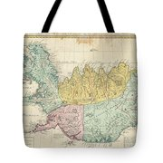1761 Homann Heirs Map Of Iceland Tote Bag