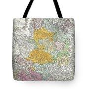 1761 Homann Heirs Map Of Westphalia  Tote Bag