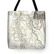 1762 Bonne Map Of Egypt  Tote Bag