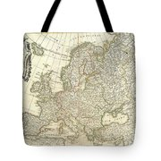 1762 Janvier Map Of Europe  Tote Bag