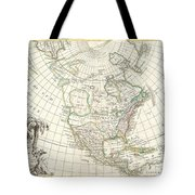 1762 Janvier Map Of North America  Tote Bag