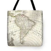 1762 Janvier Map Of South America  Tote Bag