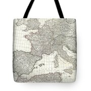 1763 Anville Map Of The Western Roman Empire Tote Bag